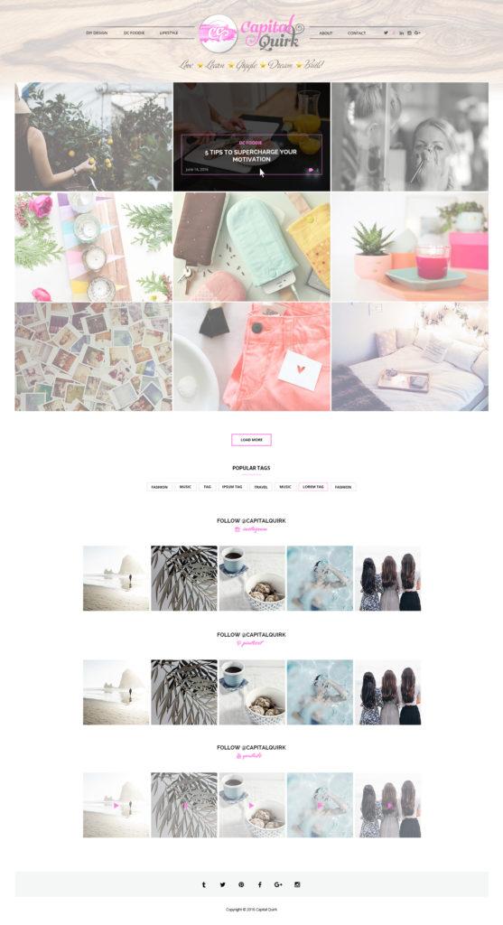 Custom Website Design for Capital Quirk
