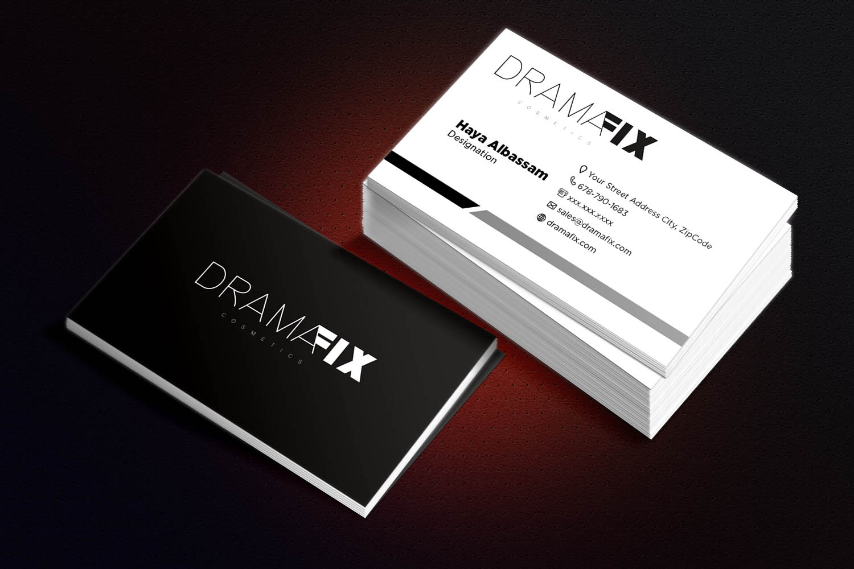 Business Card Design for Drama Fix - Logo Design Deck