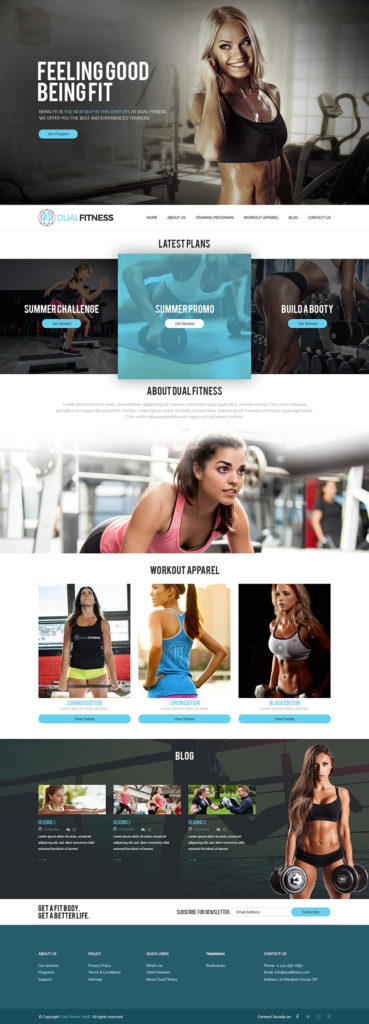 Custom Website Design for Dual Fitness