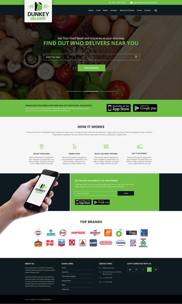 Custom Website Design for Dunkey Delivery