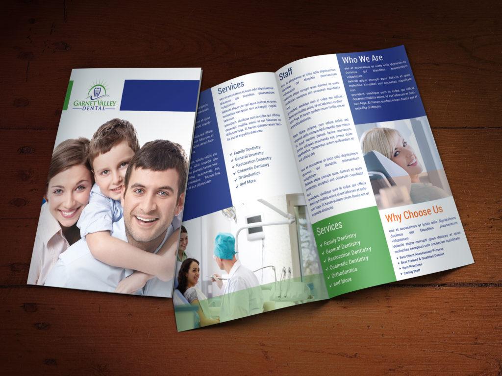 Custom Brochure Design for Garnet Valley Dental