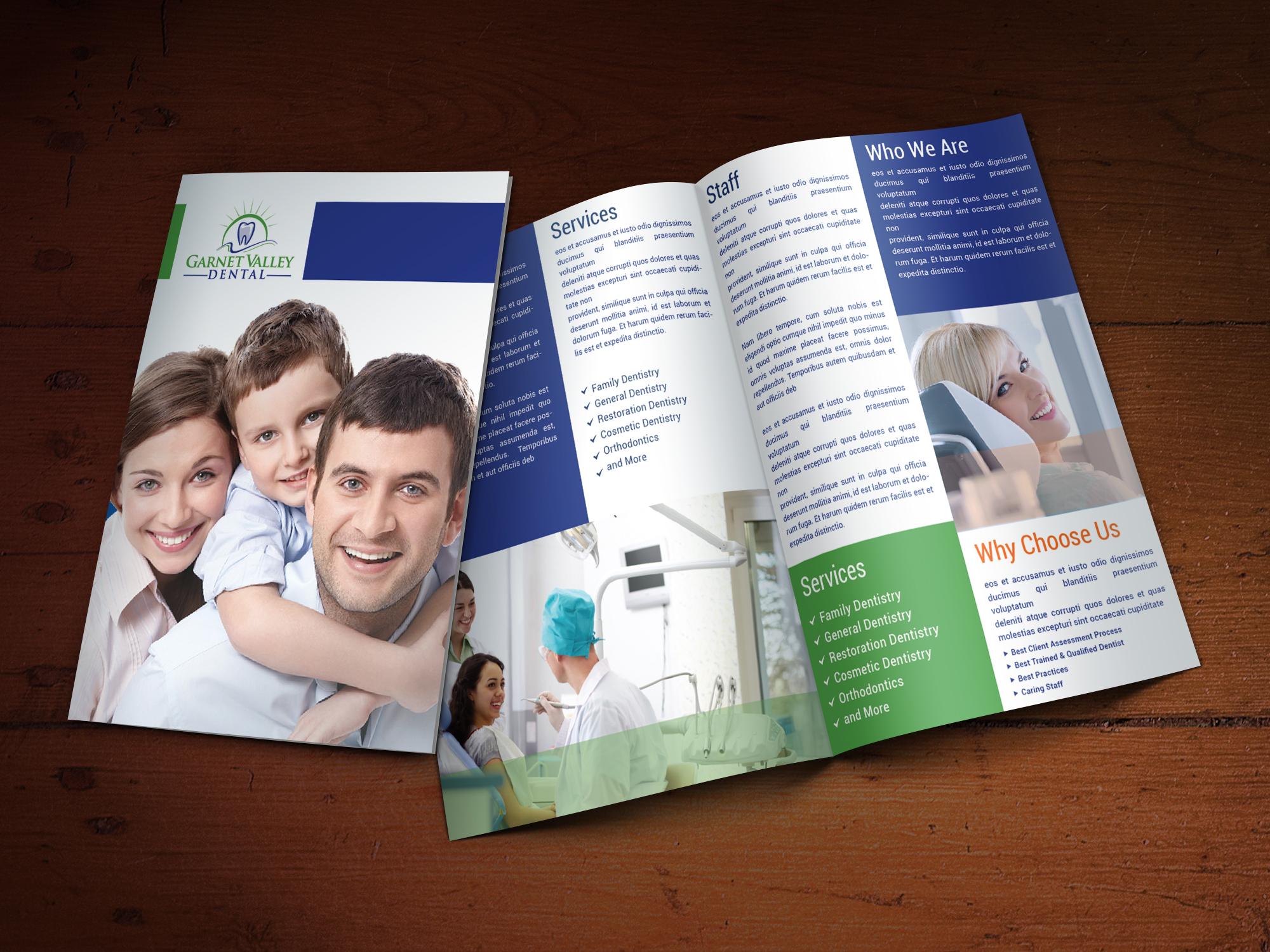 Custom Brochure Design for Garnet Valley Dental - Logo Design Deck