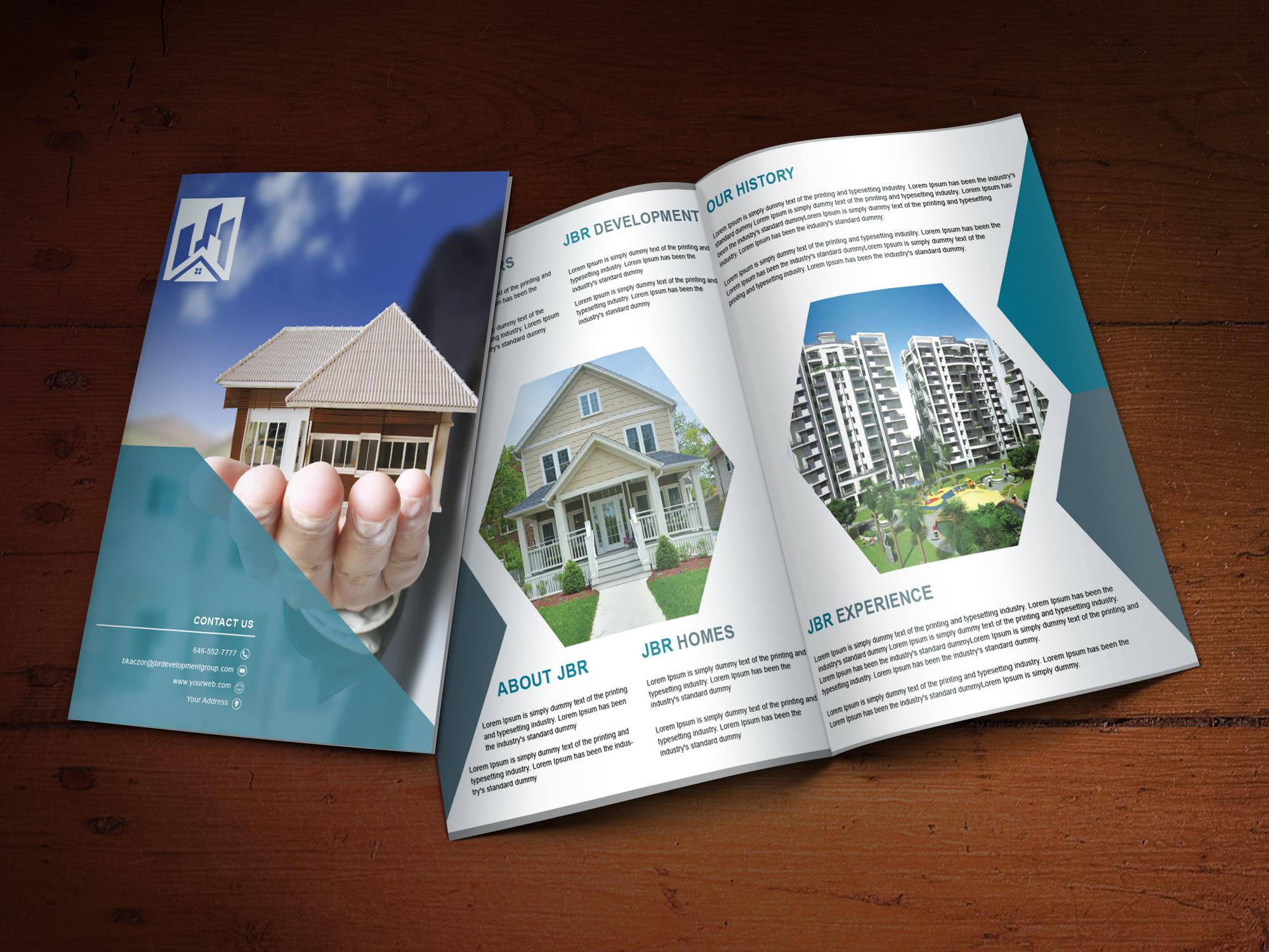 Custom Brochure Design for JBR - Logo Design Deck