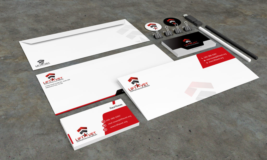 Stationery Design Template for Lift Vet