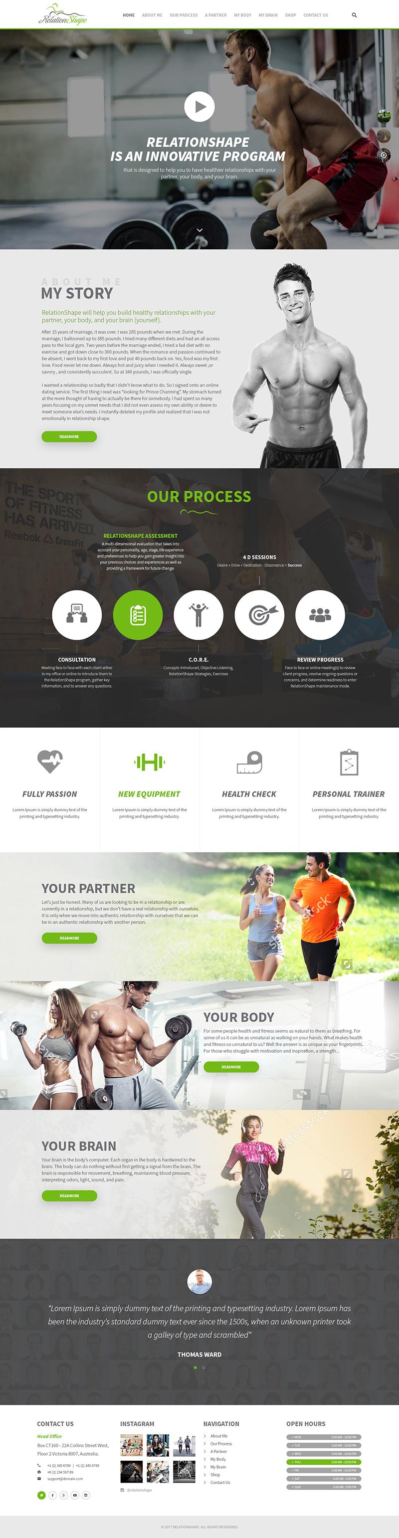 Custom Website Design for Relation Shape - Logo Design Deck