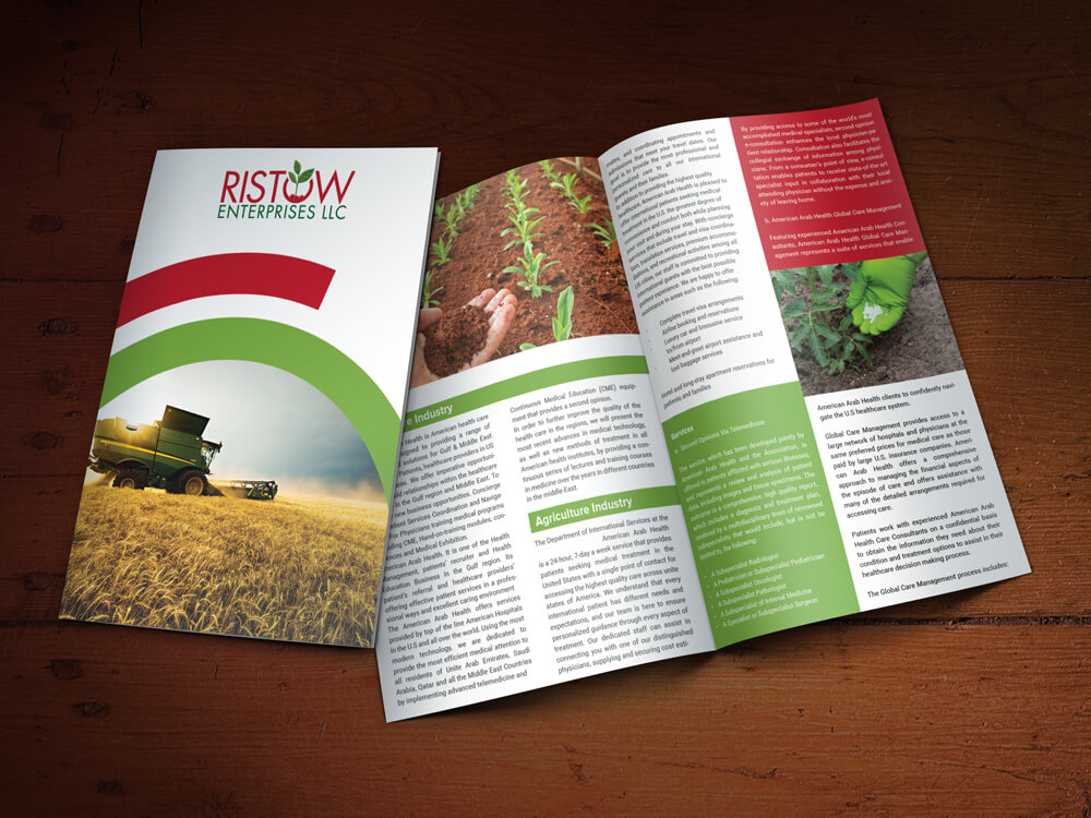 Custom Brochure Design for Ristow Enterprises LLC - Logo Design Deck
