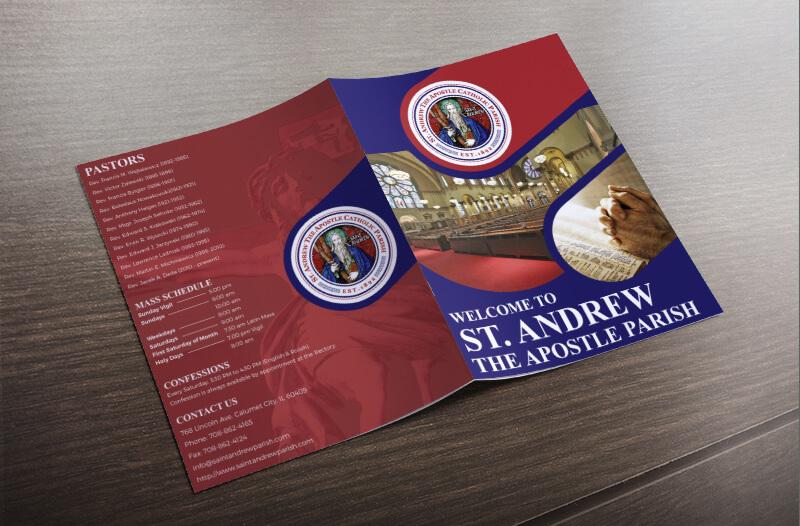 Custom Brochure Design for ST. Andrew