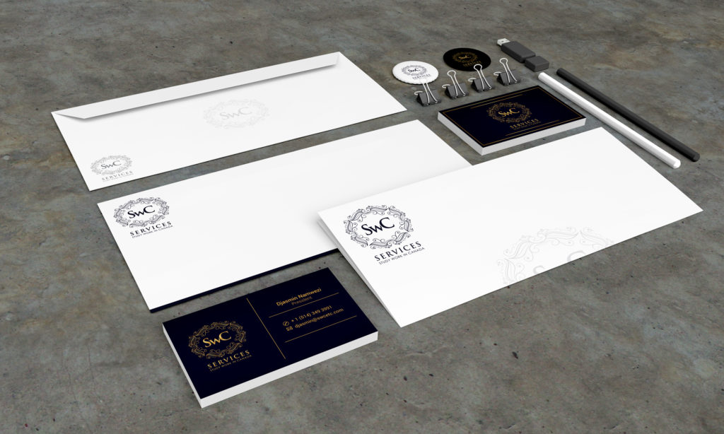 Stationery Design Template for SWC Services