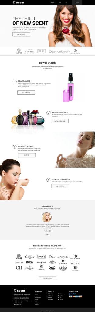 Custom Website Design for Scent