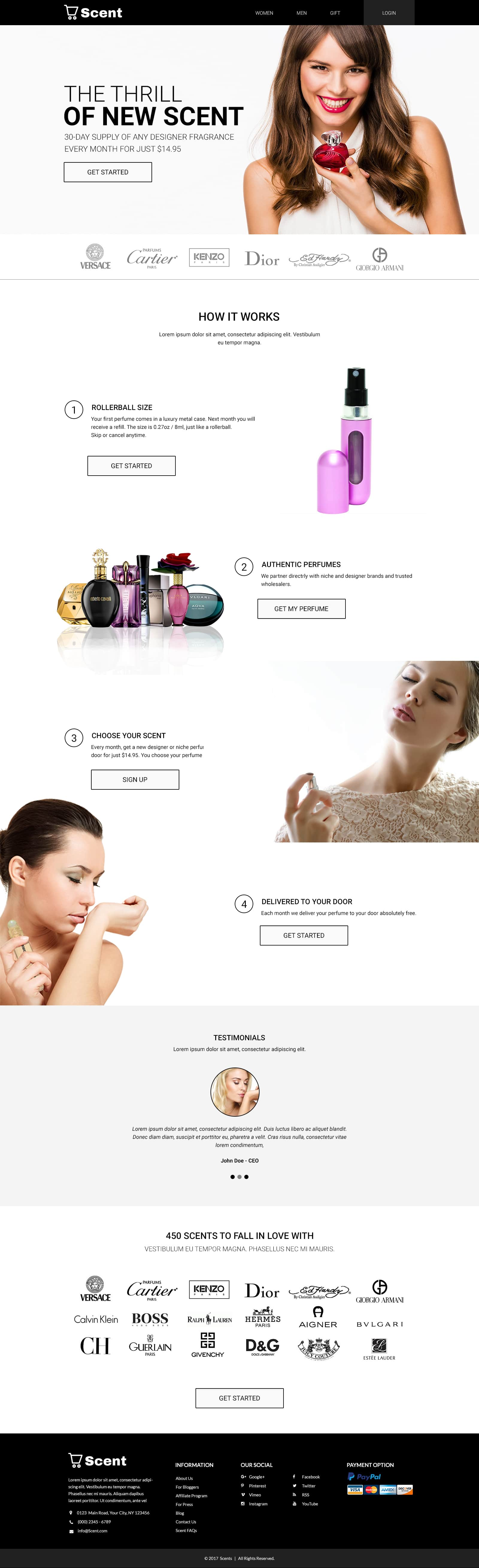Custom Website Design for Scent - Logo Design Deck