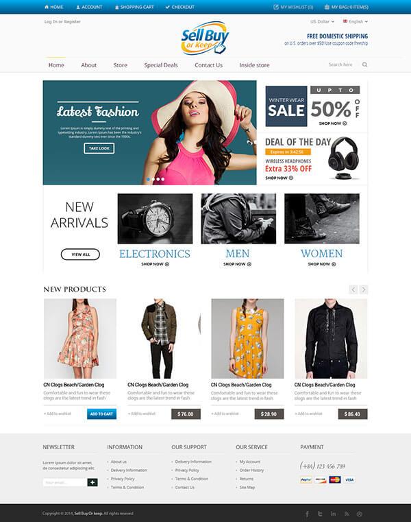Custom Website Design for Sell Buy Or Keep
