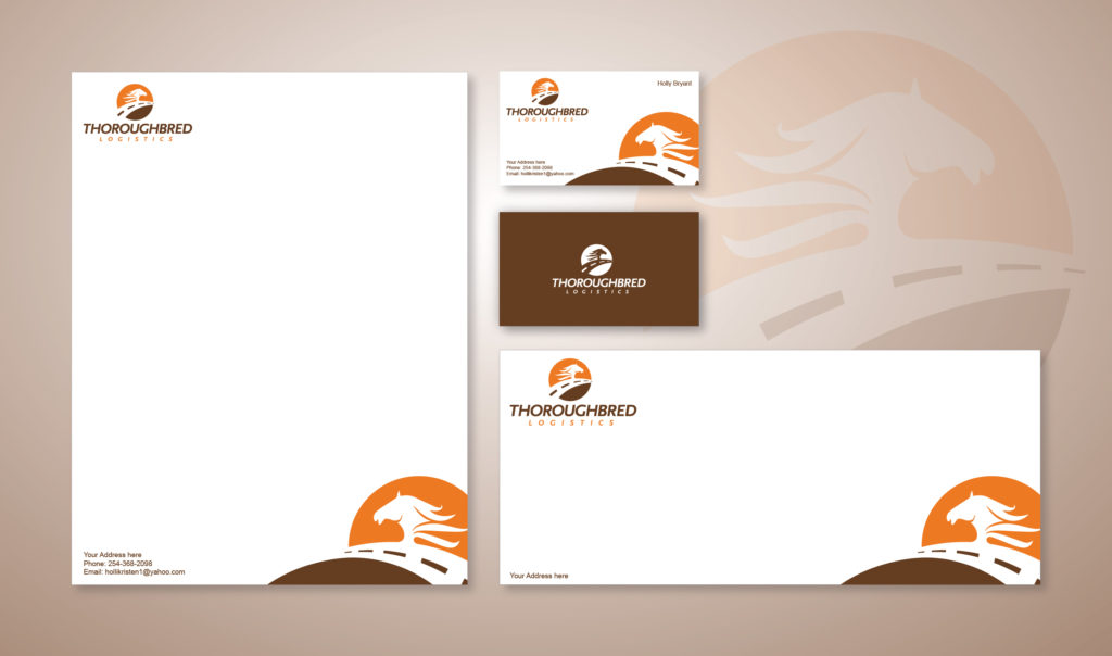 Stationery Design Template for Thoroughbred Logistics