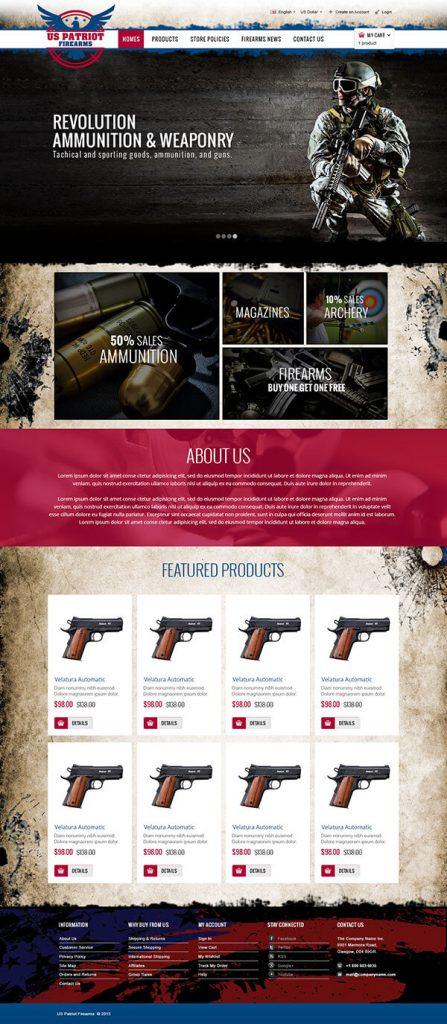 Custom Website Design for US Patriot Firearms