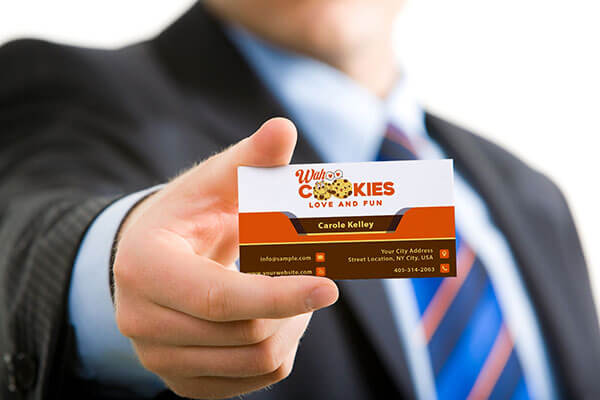 Business Card Design for Wahoo Cookies