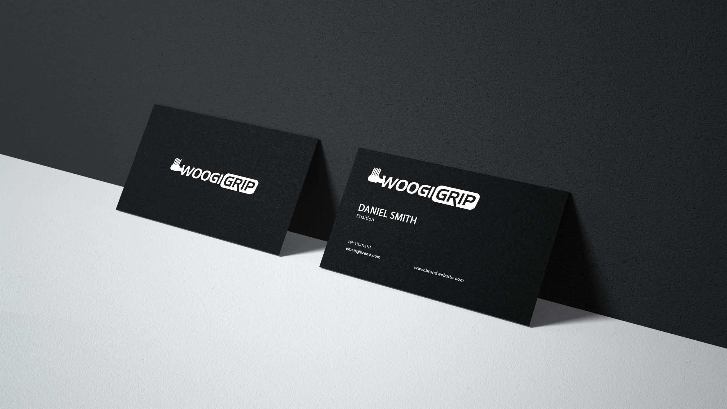 Business Card Design for Woogi Grip - Logo Design Deck