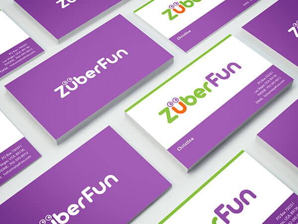 Business Card Design for Zuber Fun